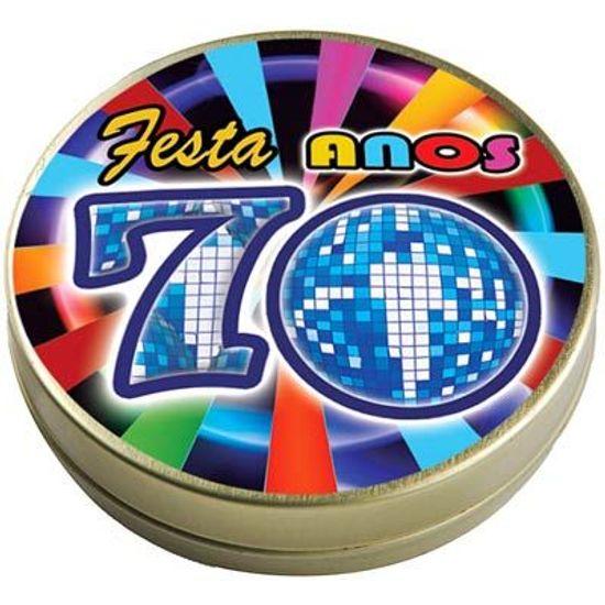 Latinha 7x2 Lembrancinha Flash Back Anos 70