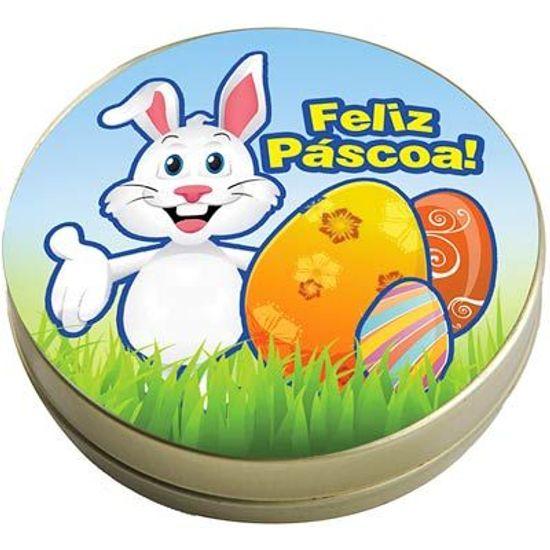 FL - Latinha 7x2 Lembrancinha Coelhinho da Páscoa AZUL
