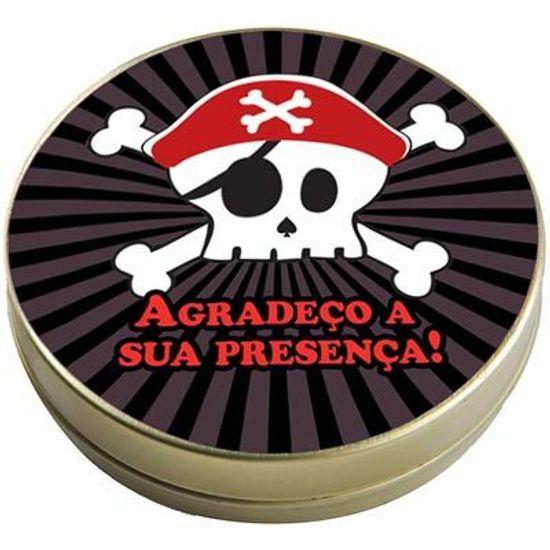 Festa Piratas - Latinha 7x2 Lembrancinha Caveira Teen Pirata FL - Latinha 7x2 Lembrancinha Caveira Teen Pirata