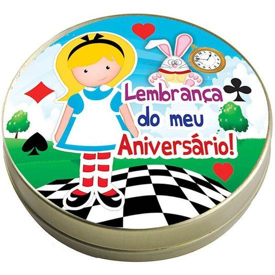 FL - Latinha 7x2 Lembrancinha Alice no País das Maravilhas