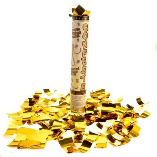 Lança Confete PREMIUM Dourado 25cm - Até 8 metros