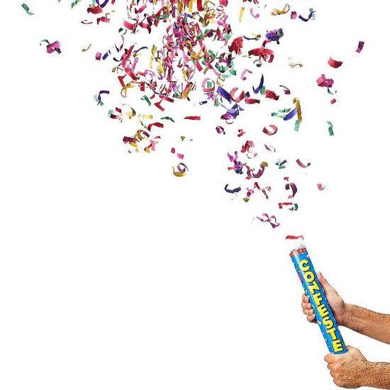 Lança Confete BASIC Colorido 40cm - Até 8 metros