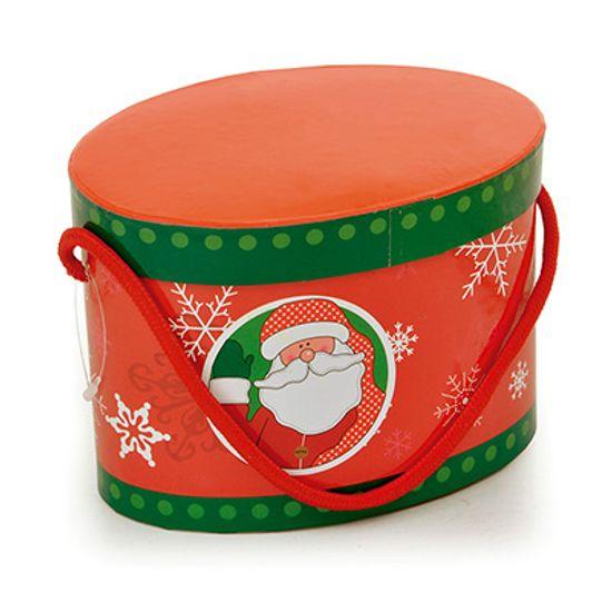 Kit Mesa - Caixa Oval Papai Noel com 02 Canecas