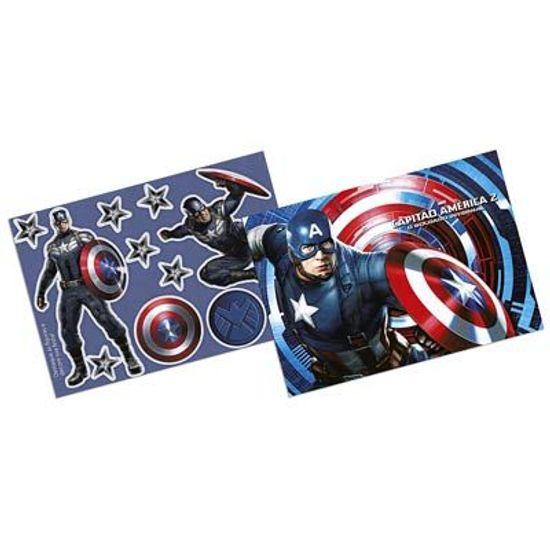 Festa Capitão América - Kit Decorativo Cartonado Capitão América 2 FL - Kit Decorativo Cartonado Capitão América 2