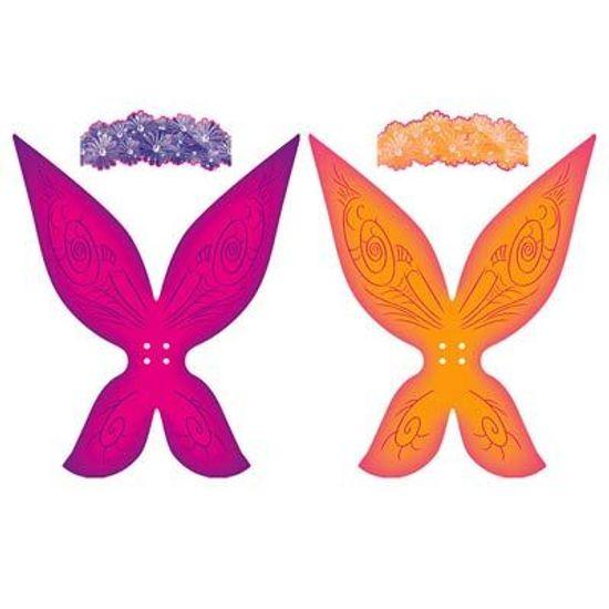 Festa Fadas Disney - Kit Asinha e Tiara Fadas Magia 04 unidades FL - Kit Asinha e Tiara Fadas Magia 04 unidades
