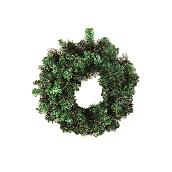 Guirlanda de Natal 135 Hastes Verde 60cm (Guirlanda de Natal Aramadas) - 1 Unidade