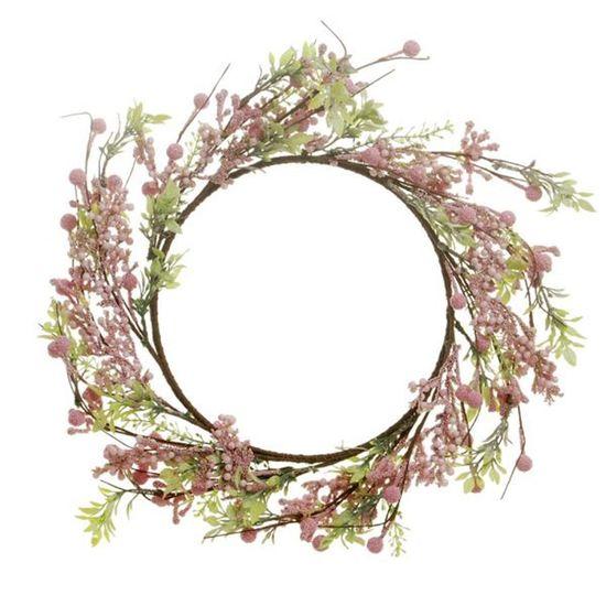 Cromus - Guirlanda de Natal Frutas Rosa Claro ( Fondant ) - 1 Unidade