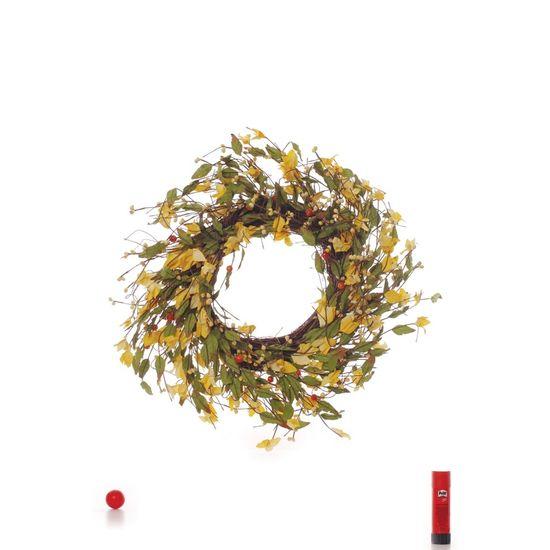 Cromus - Guirlandas Decorativas Amarelo - 1 Peça