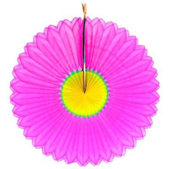 Guirlanda de Papel - Girassol Pink e Amarelo - 25cm