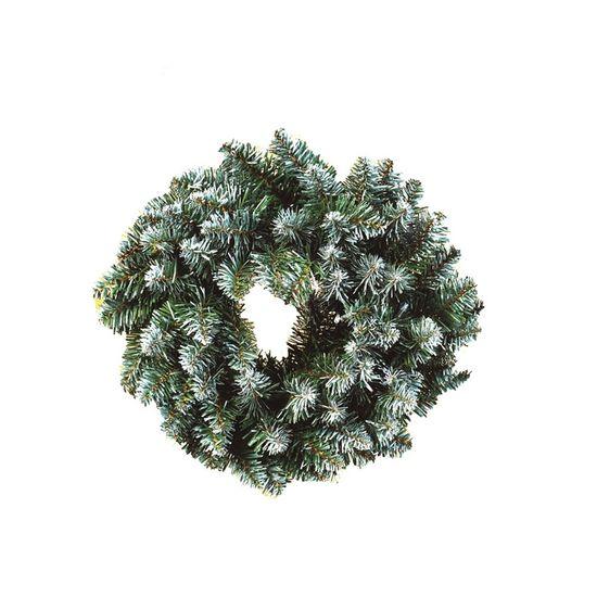 Guirlanda de Natal Nevada 90 Hastes Verde 40cm (Guirlanda de Natal Aramadas) - 1 Unidade