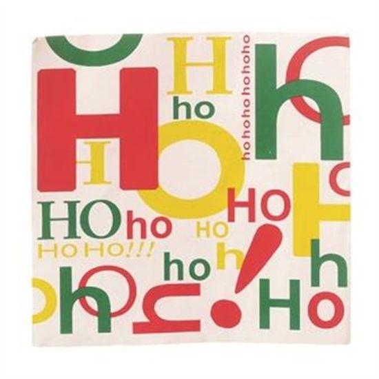Guardanapo de Natal Hohoho Colorido 32,5X32,5cm (Guardanapo de Natal s) com 20 Folhas