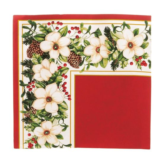 Guardanapo de Natal Flores Vermelho 32,5X32,5cm (Guardanapo de Natal s) com 20 Folhas