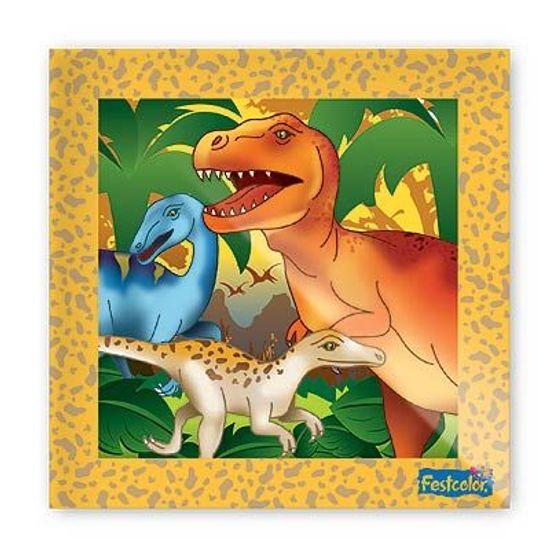 Festa Dinossauros - Guardanapos de Papel Seda Festa Dinossauros - 16 unidades Guardanapos de Papel Seda Festa Dinossauros - 16 unidades