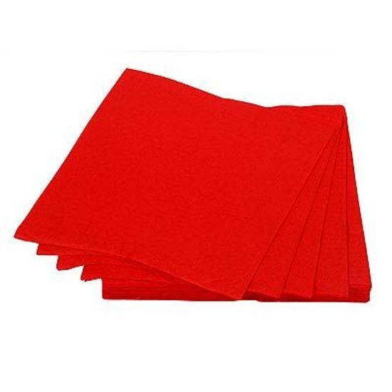 Guardanapos de Papel Seda 33cm Happy Line Vermelho - 20 Un