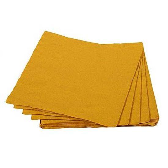 Guardanapos de Papel Seda 33cm Colorline Ouro - 20 unidades