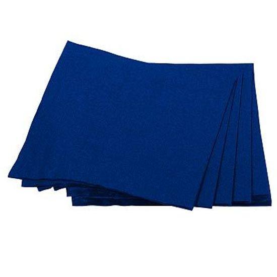 Guardanapos de Papel Seda 33cm Happy Line Azul Royal - 20 Un