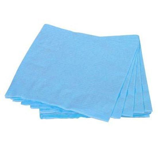 Guardanapos de Papel Seda 33cm Happy Line Azul Claro - 20 Un