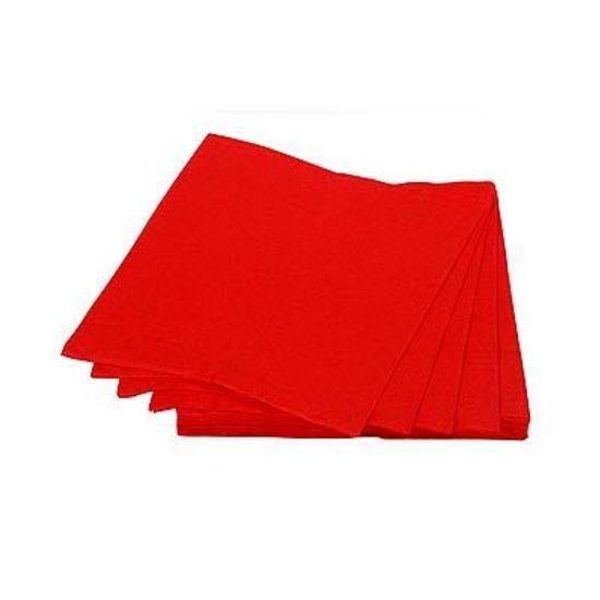 Guardanapos de Papel Seda 25cm Happy Line Vermelho - 20 unidades