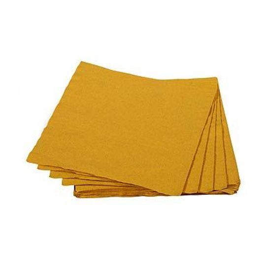 Guardanapos de Papel Seda 25cm Colorline Ouro - 20 unidades