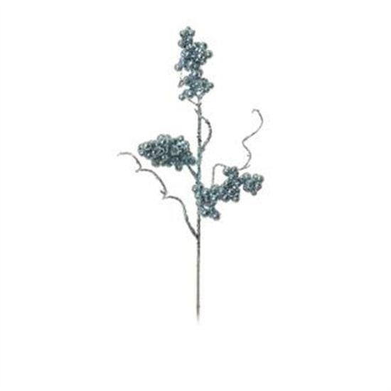 Galho com Sementes Azul Claro (Galhos Médios)  - 12 Unidades