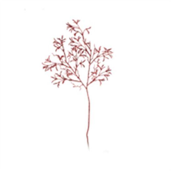 Galho com Folha e Glitter Vermelho (Galhos Grandes) - 6 Unidades