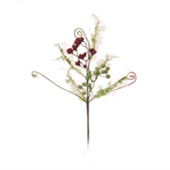 Poinsettia Vermelho e Verde Escuro (Flores Cabo Médio) - 3 Unidades