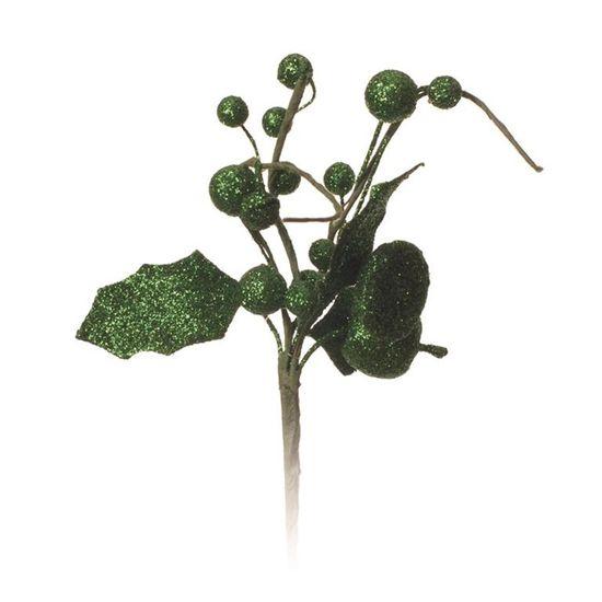 Galho com Maça Verde (Galhos Curtos)  - 12 Unidades