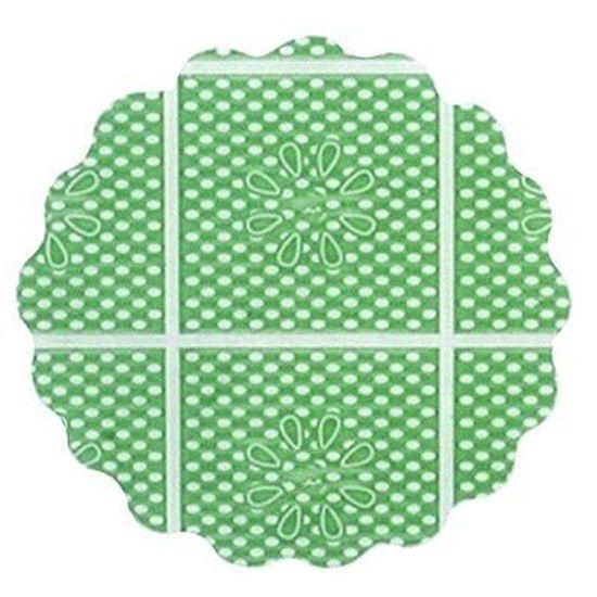 Fundo Rendado Tapetinho de Forminhas 7cm Verde Escuro - 100 unidades