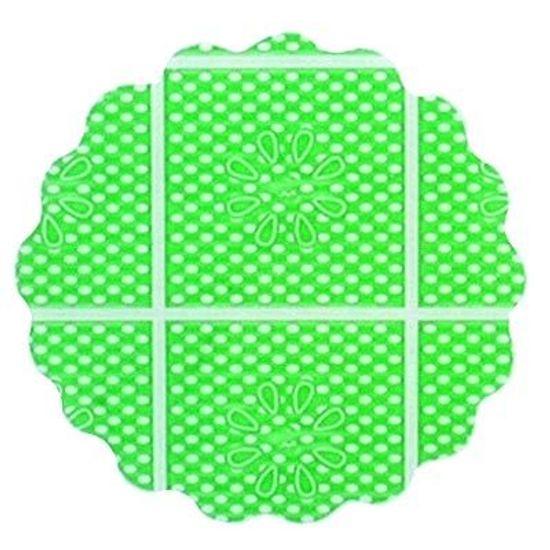 Fundo Rendado Tapetinho de Forminhas 7cm Verde Claro - 100 unidades
