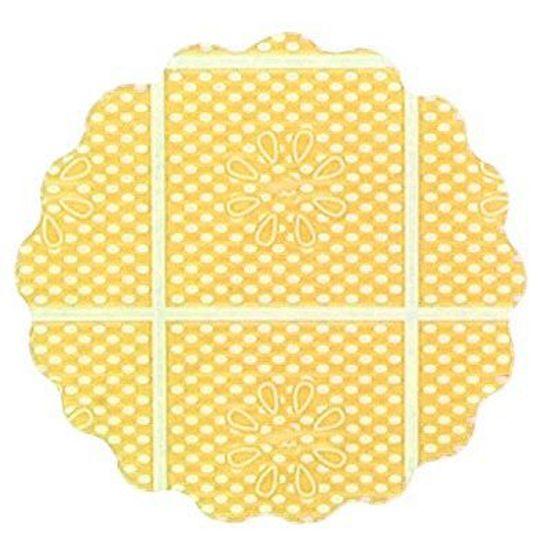 Fundo Rendado Tapetinho de Forminhas 7cm Amarelo - 100 unidades