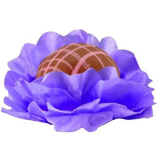 Forminhas Decorativas Floral Linha Seda Violeta - 40 unidades