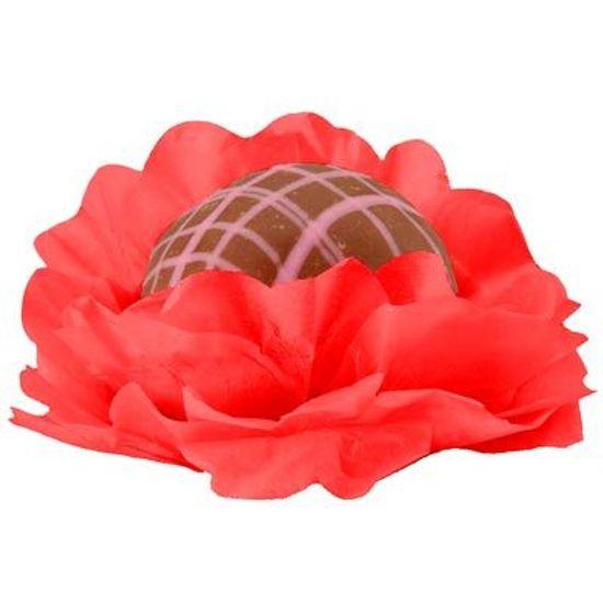 Forminhas Decorativas Floral Linha Seda Vermelho - 40 unidades