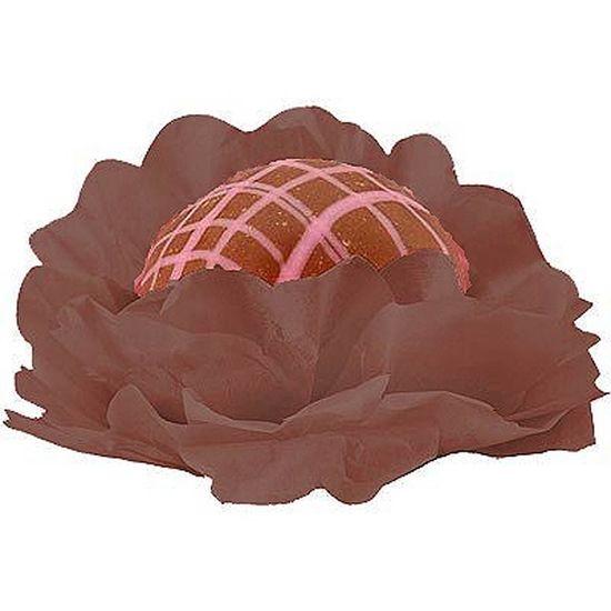 Forminhas Decorativas Floral Linha Seda Marrom - 40 unidades
