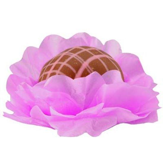 Forminhas Decorativas Floral Linha Seda Lilás - 40 unidades