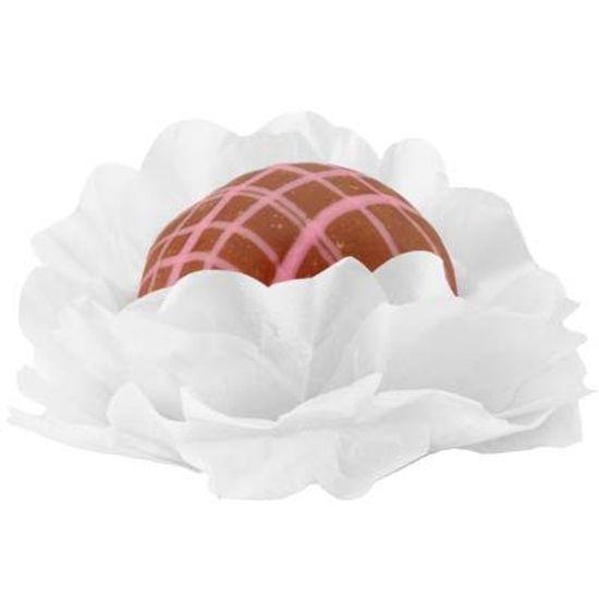 Forminhas Decorativas Floral Linha Seda Branco - 40 unidades