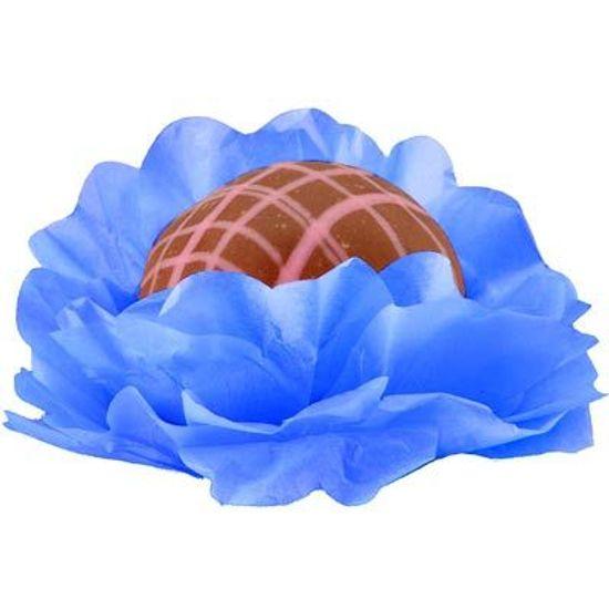 Forminhas Decorativas Floral Linha Seda Azul Escuro - 40 Un