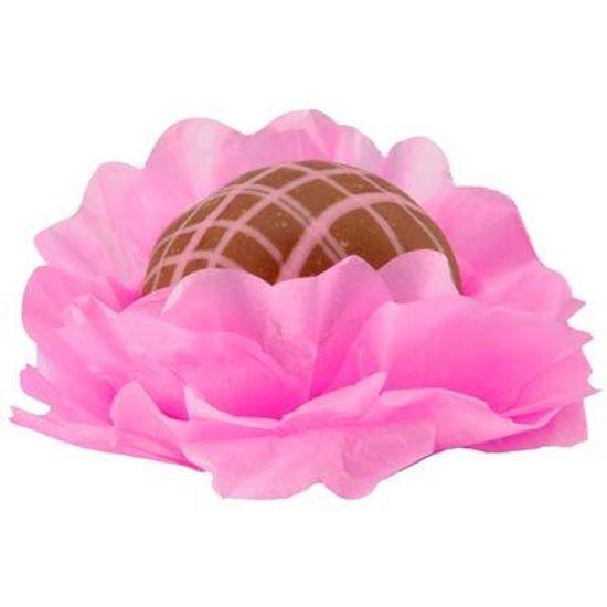 Forminhas Decorativas Floral Linha Seda Rosa Escuro - 40 unidades