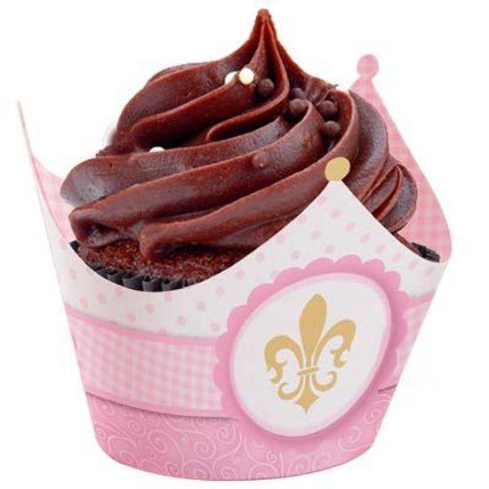 Festa Reino Encantado Menina - Cromus Reino Menina - Forminha para Mini Cupcake 12 unidades FL - Cromus Reino Menina - Forminha para Mini Cupcake 12 unidades