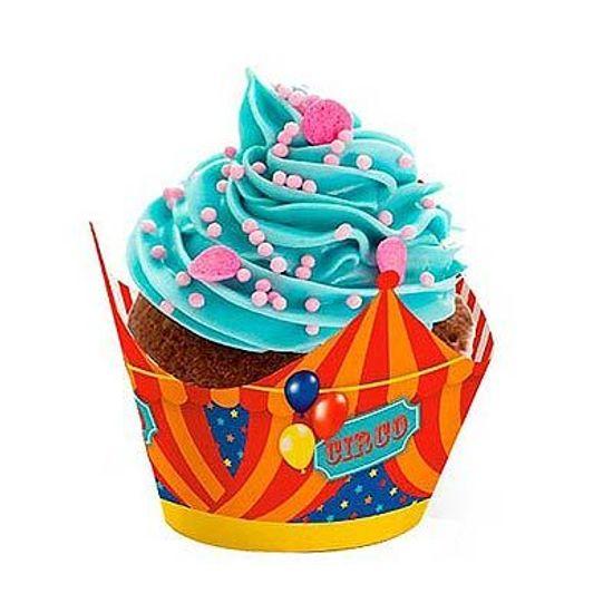 Festa Circo - Cromus Circo - Forminha para Mini Cupcake 12 unidades FL - Cromus Circo - Forminha para Mini Cupcake 12 unidades