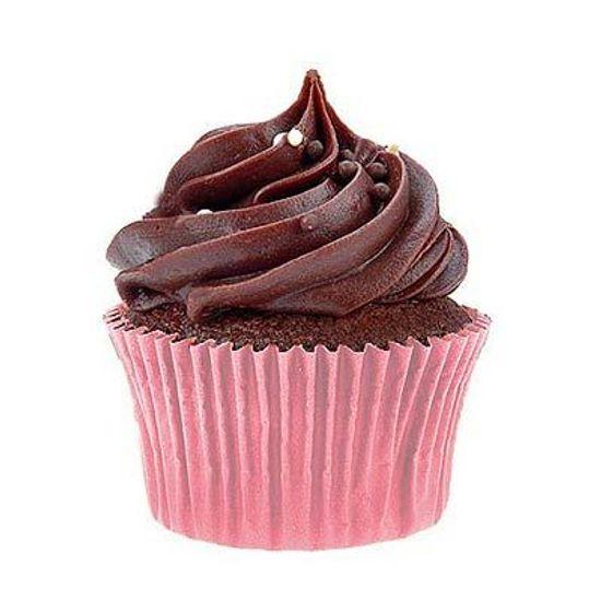 Forminha Impermeável para MINI Cupcake Rosa - 50 unidades