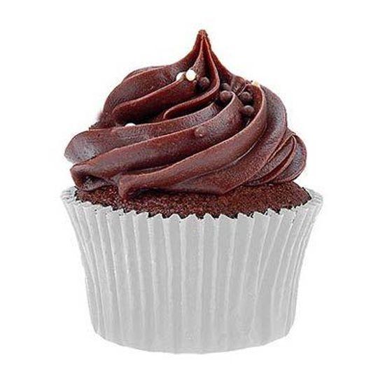 Forminha Impermeável para MINI Cupcake Branco - 50 unidades