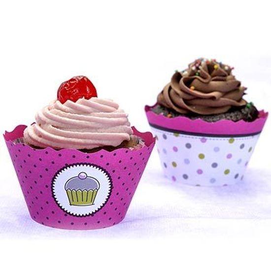 FL - Forma para Cupcake ULTRAFEST Pink Dupla Face 12 unidades