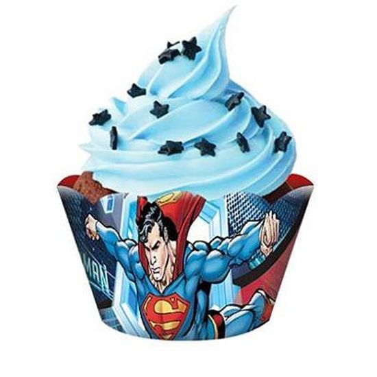 FL - Forma para Cupcake Superman - 08 unidades