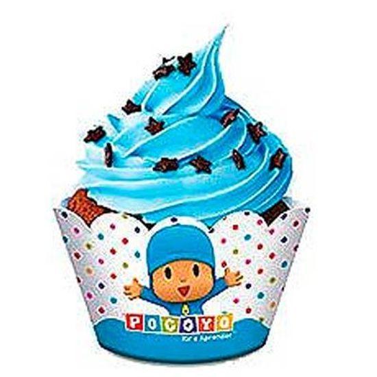 Festa Pocoyo - Forma para Cupcake Pocoyo - 08 unidades Forma para Cupcake Pocoyo - 08 unidades