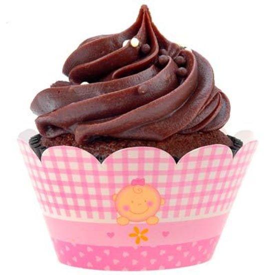 Forma para Cupcake NC Chá de Bebê Rosa - 12 unidades