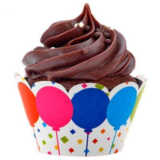 Festa Circo - Forma para Cupcake NC Balões Coloridos - 12 unidades FL - Forma para Cupcake NC Balões Coloridos - 12 unidades