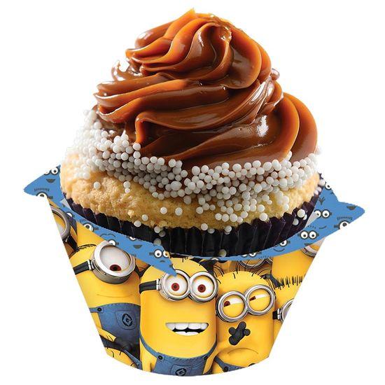Festa Minions - Forma para Cupcake Minions - 08 unidades Forma para Cupcake Minions - 08 unidades