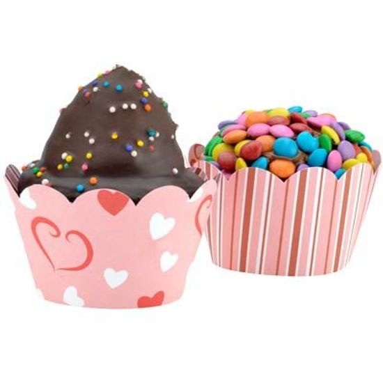 FL - Forma para Cupcake DUSTER 85007 Corações - 12 unidades