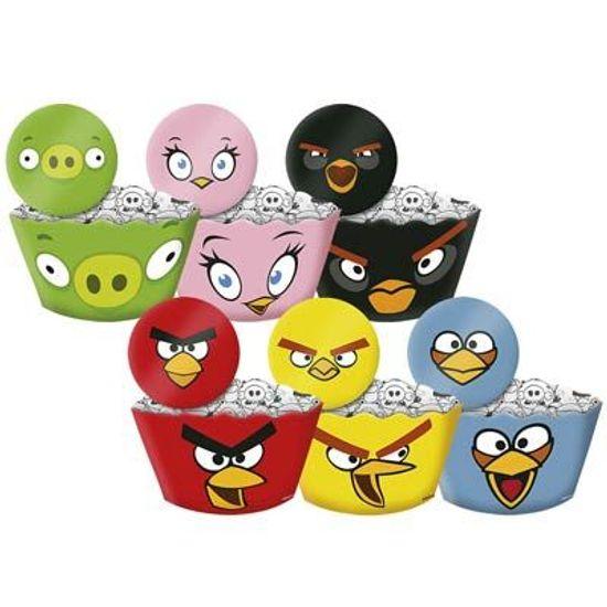 FL - Forma para Cupcake e Enfeite Angry Birds Game - 12 unidades