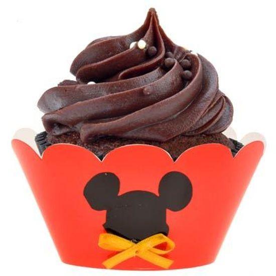 Festa Mickey Mouse - Forma para Cupcake Artesanal Mickey Mouse - 05 unidades FL - Forma para Cupcake Artesanal Mickey Mouse - 05 unidades